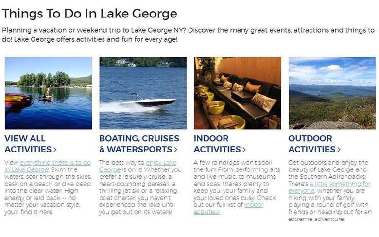 lake george things to do guide page