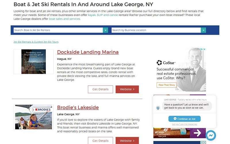 boat jet ski rentals list