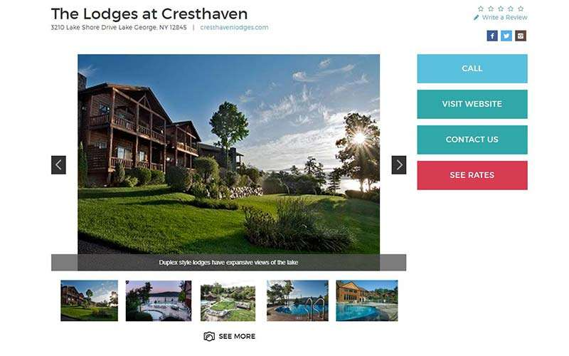 lodges at cresthaven business listing