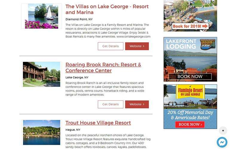 list of lodging properties