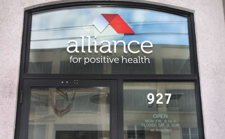 front entrance of the alliance for positive health