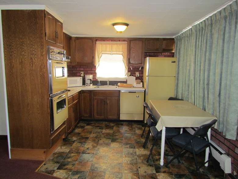 full kitchen of two-bedroom suite