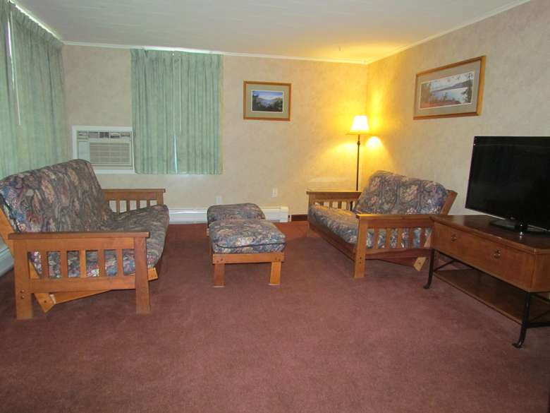 living room of two-bedroom suite