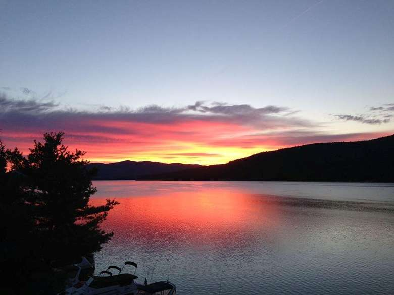 sunrise over lake george