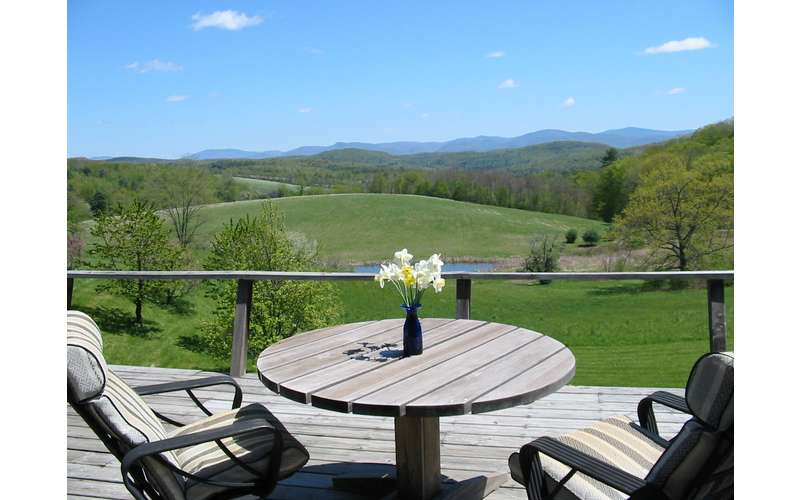 Take in the stunning view on the back deck.