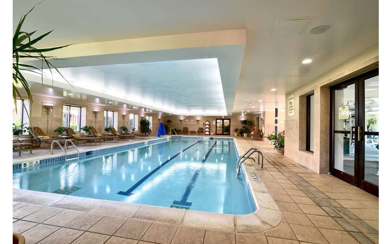 a large indoor pool