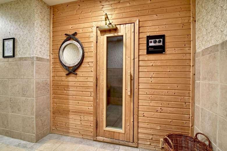 entrance to a sauna