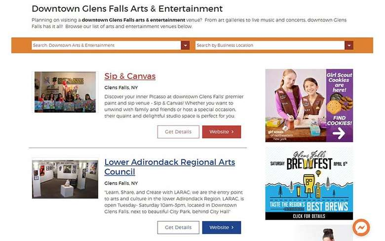 activity directory on glens falls website