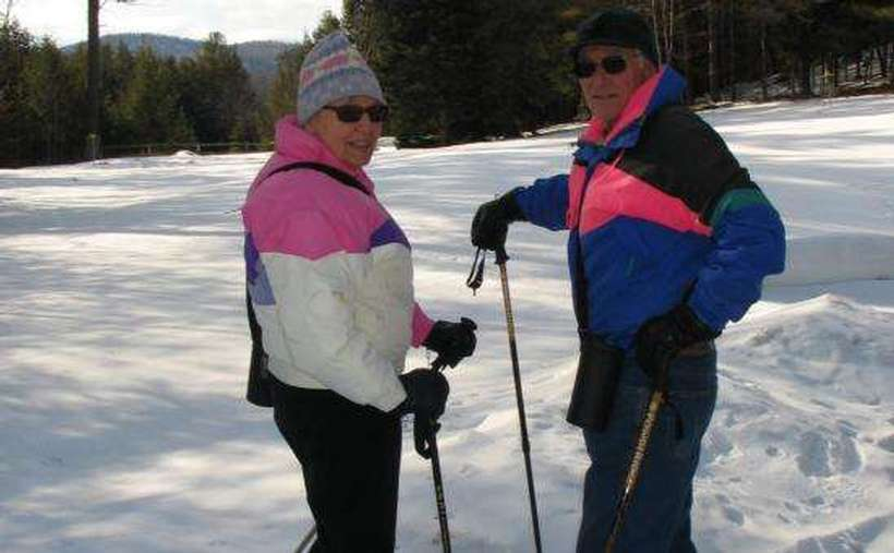 Snowshoeing over 12 miles of trail in Winter