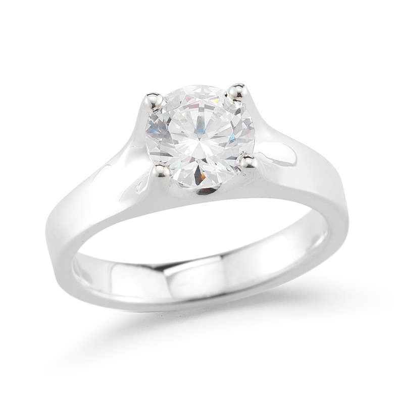 diamond ring in a typical prong setting
