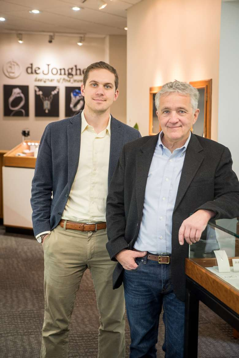 father and son co-owners of deJonghe original jewelry