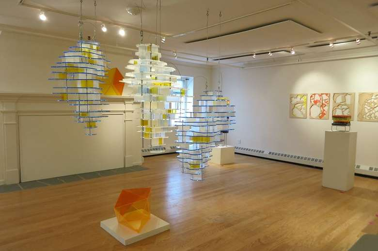artworks in a gallery room