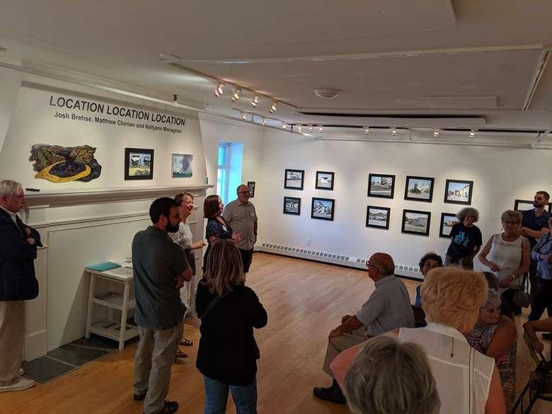 a presentation in a gallery