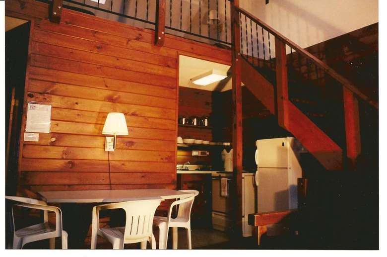 inside of a rustic looking room