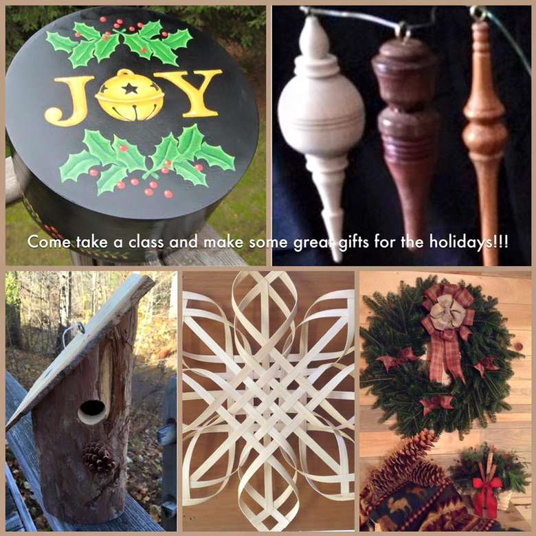 a collage of holiday items