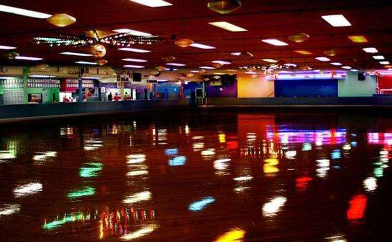 Interior of a rollerskating rink