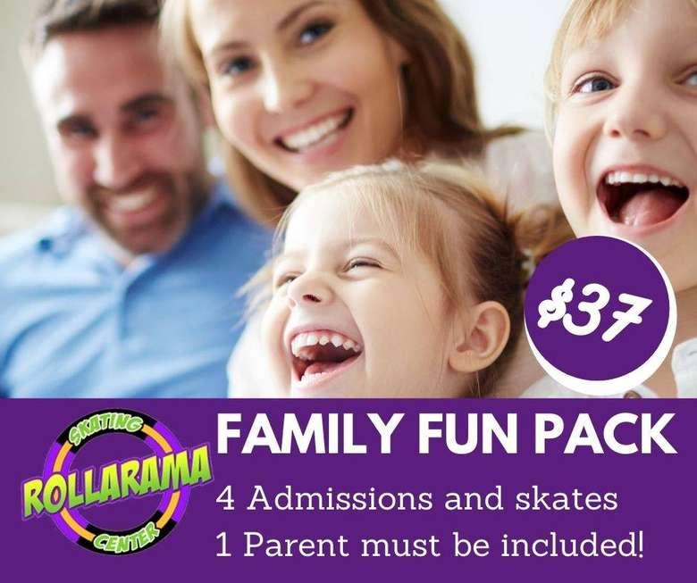 Family Fun Pack for 4 at Rollarama Skating Center