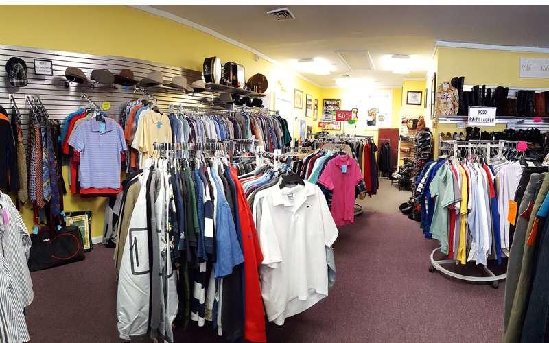 men's Polo shirts, Golf shirts, shorts, pants, suits and more.