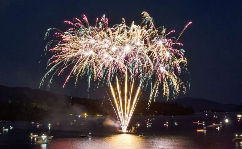 Free fireworks every Thursday night in July and August