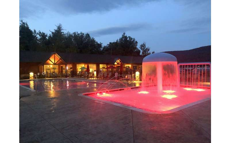Our new light show and water features at Scotty's Lakeside Resort