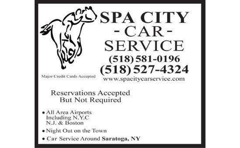 spa city car service ad with two phone numbers