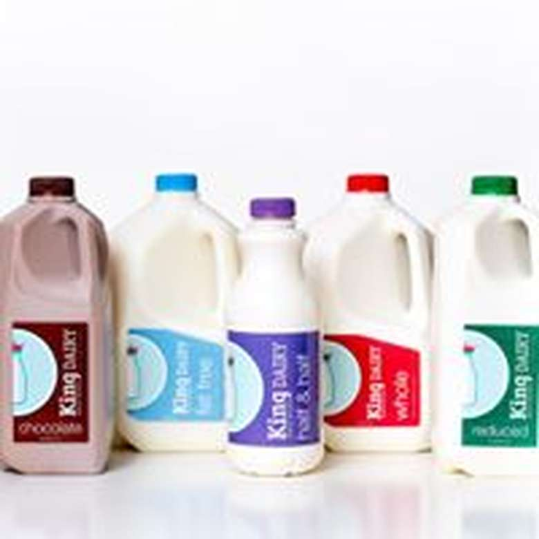 lineup of king brothers dairy milk options