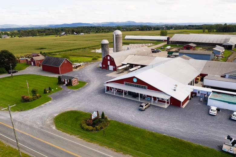 Ariel view of the farm store