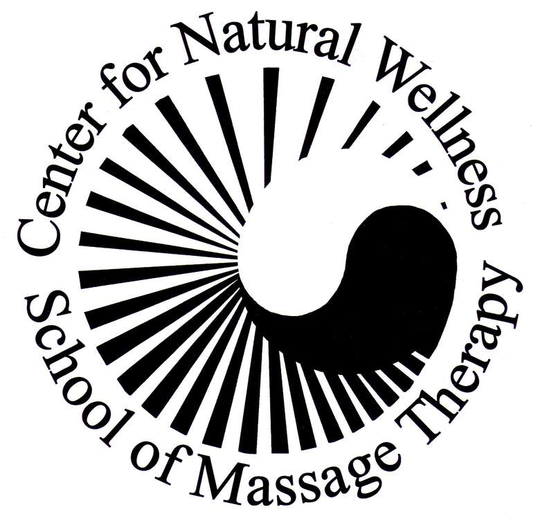 logo for the center for natural wellness school of massage therapy