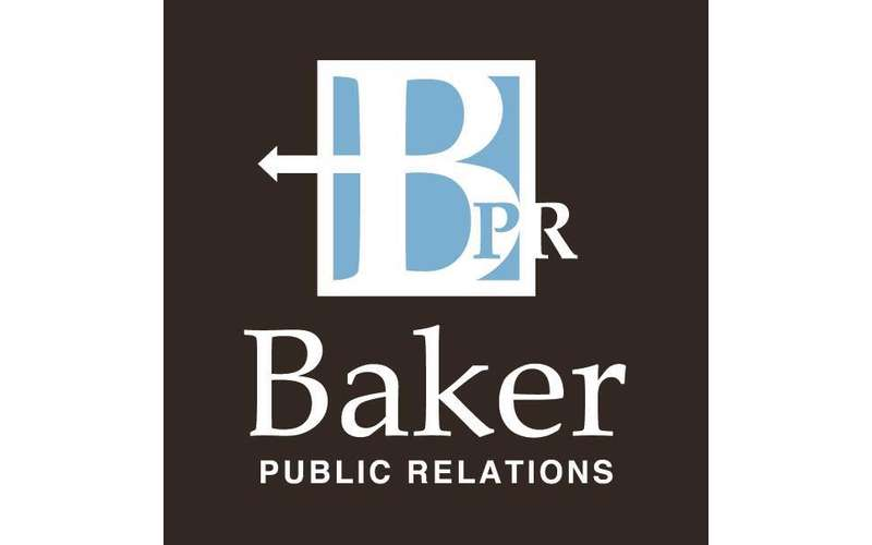 the logo for baker public relations