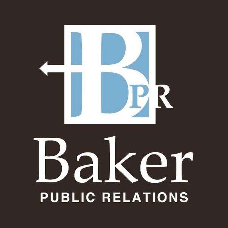 the logo for baker public relations