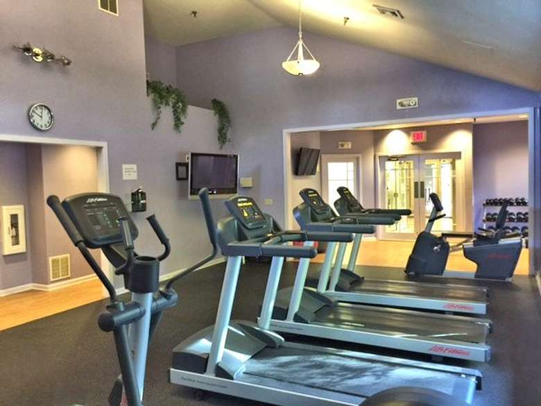 Exercise room with treadmills and other equiptment