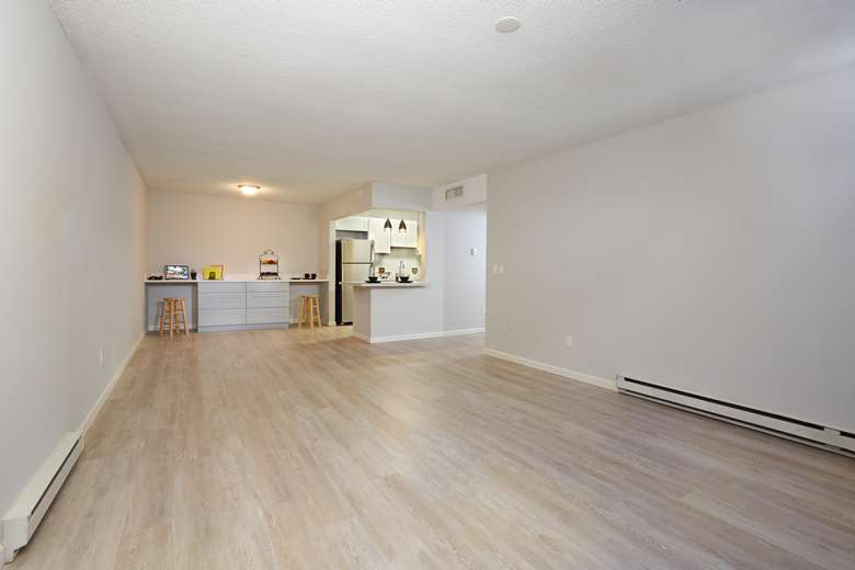 Large open room in apartment