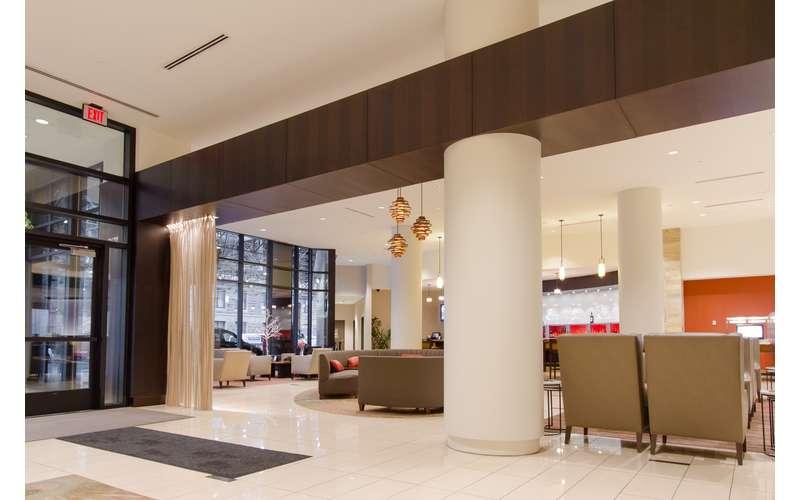 Step inside the lobby of Hilton Albany.