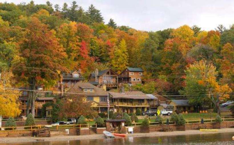view of resort in the fall