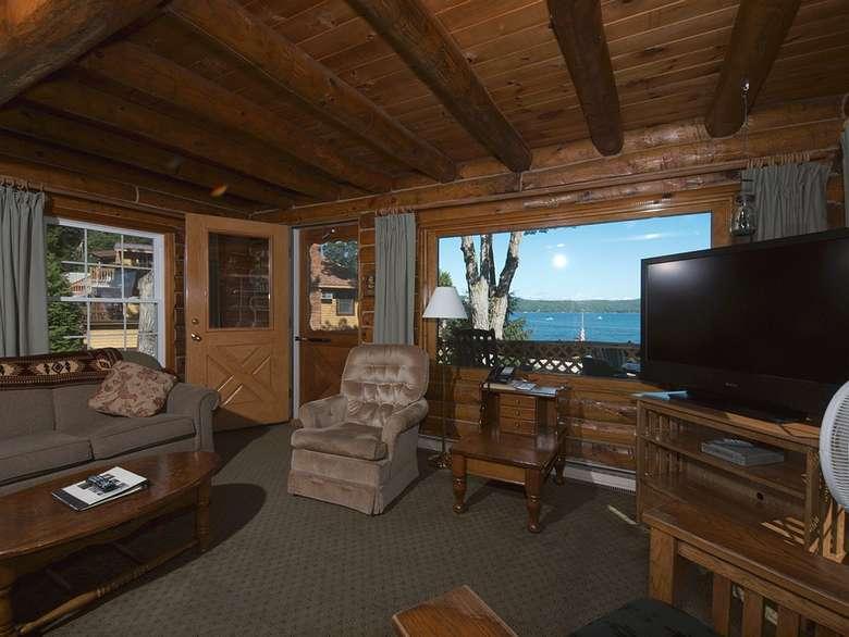 Adirondack-style living room