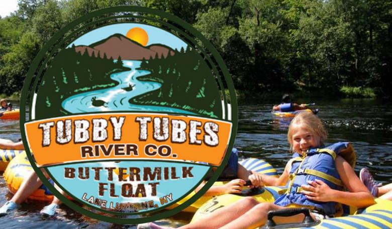 Tubby Tubes Logo over tubing pic