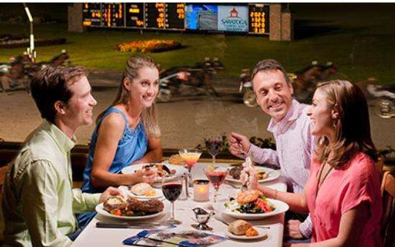 Dine trackside at Fortunes Restaurant and wager right from your table.