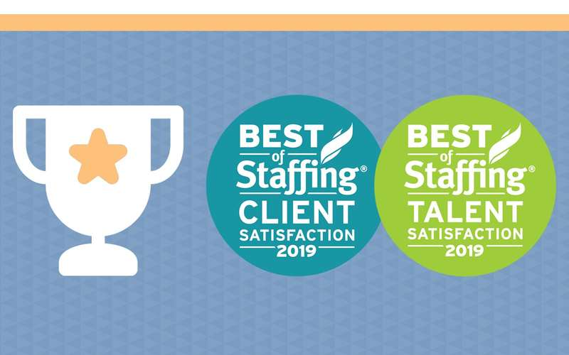 image indicating trophy for best staffing