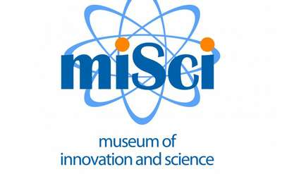 the logo for misci