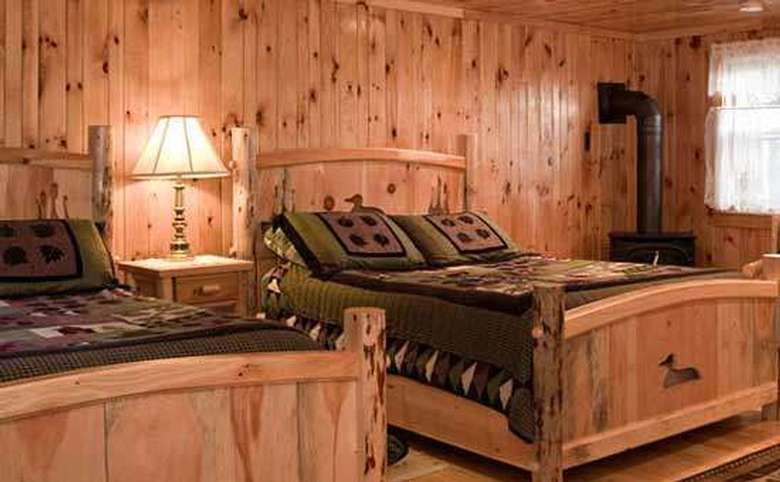 Adirondack-style room with two beds