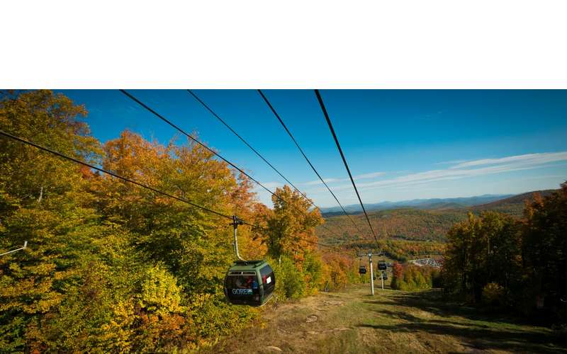 Scenic fall gondola rides at Gore Mountain
