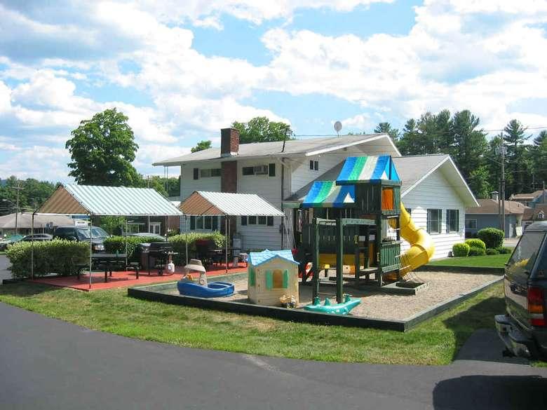 playground next to sandbox