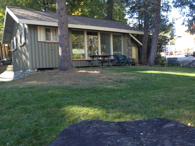 cottage and front lawn