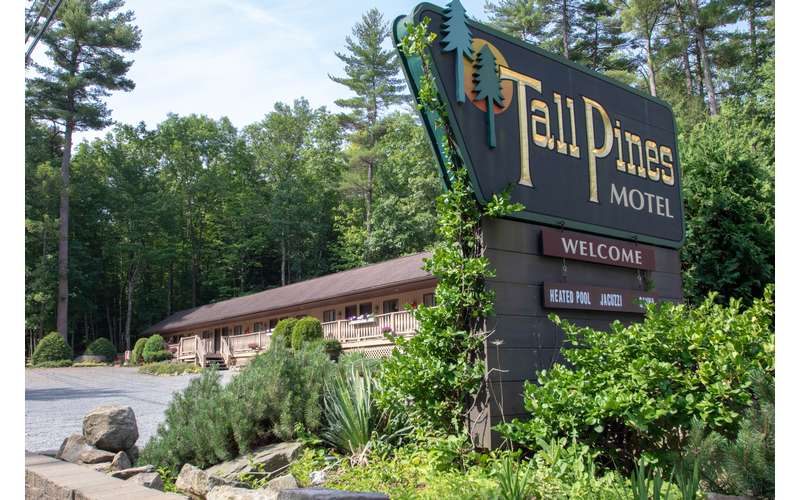Tall Pines Motel sign