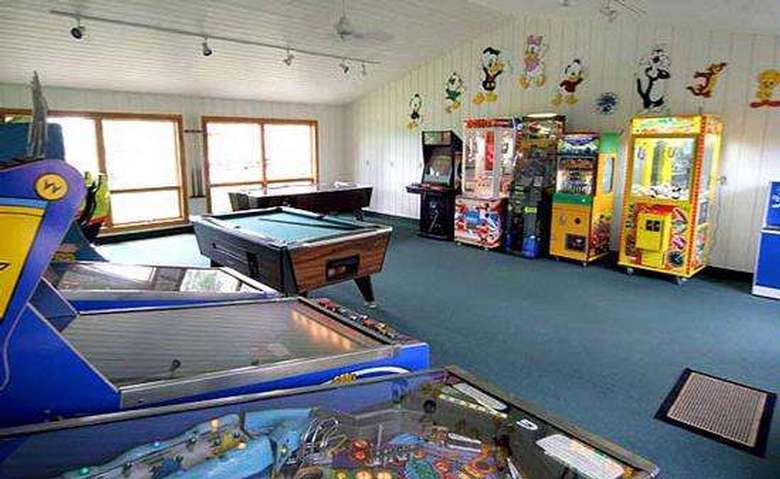 game room at the mohican motel