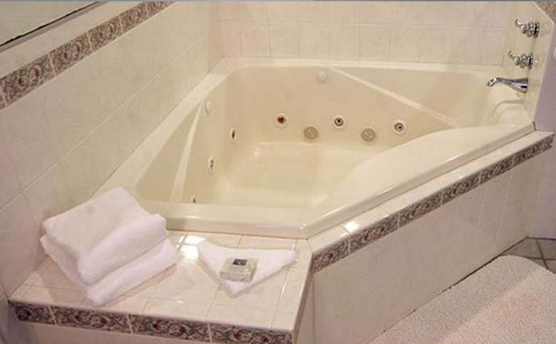jacuzzi tub at a motel