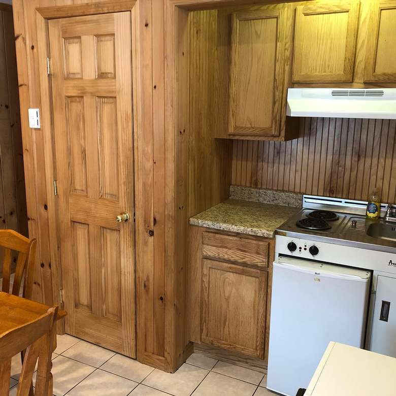 kitchen oven in a cabin