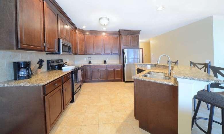 a spacious kitchen