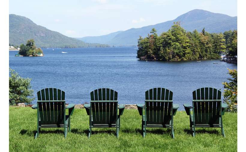 Come relax in our Adirondack chairs and watch the boats go by.