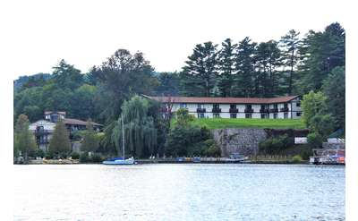 view of melody manor from the water